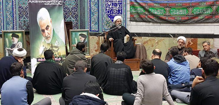 برگزاری مجلس ترحیم سردار شهید قاسم سلیمانی با حضور اقشار مختلف مردم